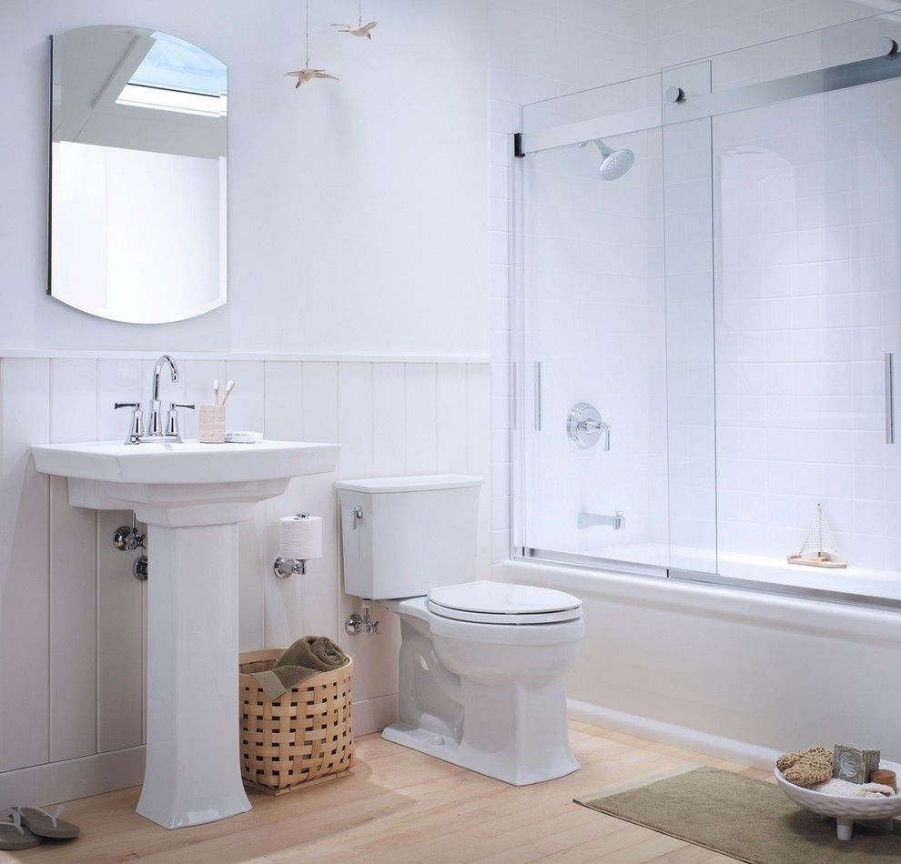 Inspired kohler archer in Bathroom Traditional with Sliding Shower ...