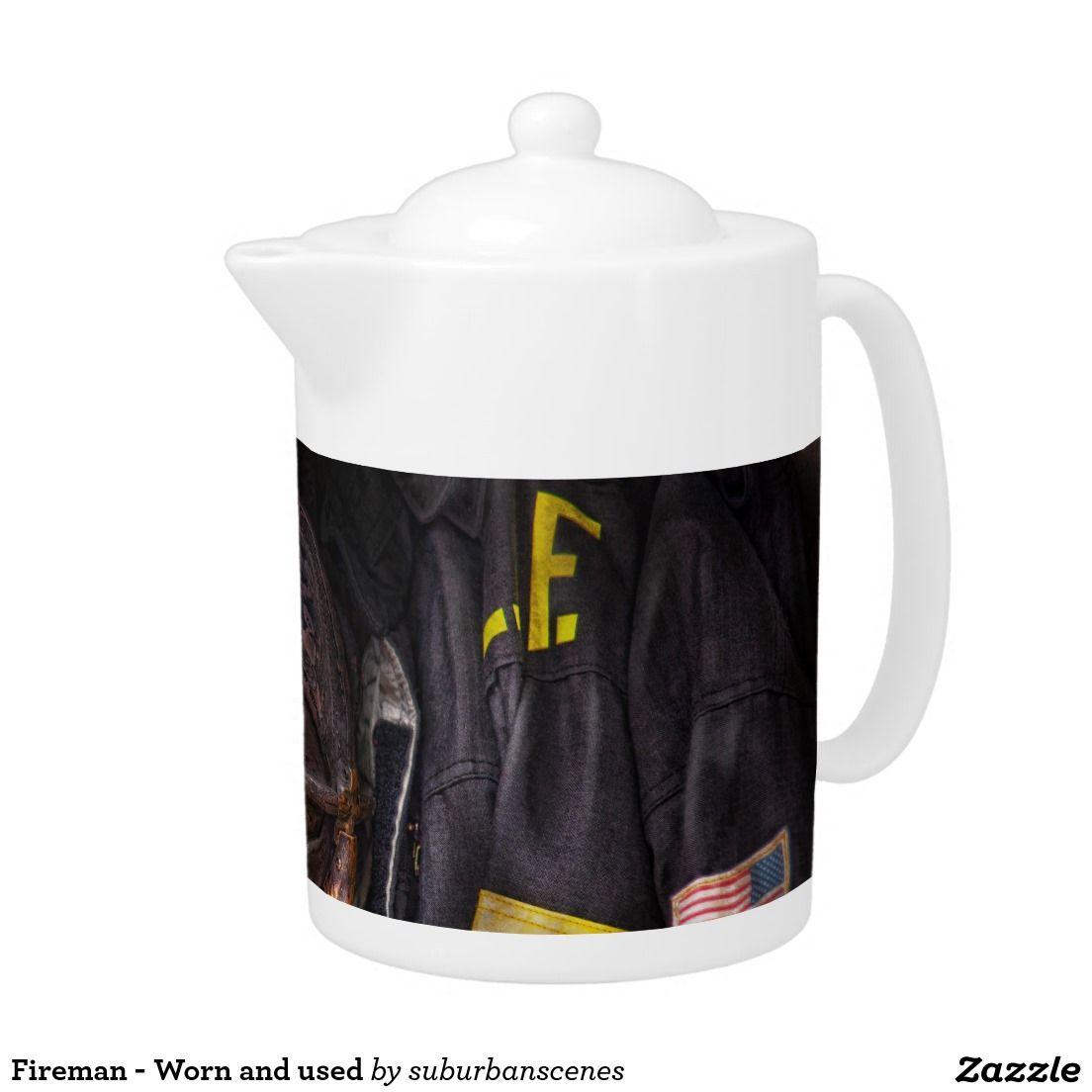 Fireman - Worn and used Teapot