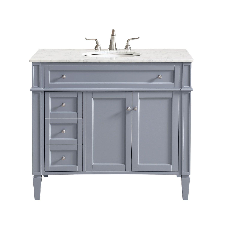 Elegant Lighting Park Avenue Vanity Sink Set Vf12540 Bellacor Marble Vanity Tops Single Bathroom Vanity Single Sink Bathroom Vanity