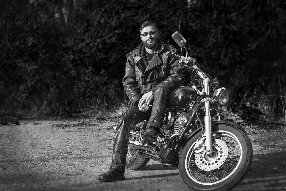 байкер мотоцикл фотосессия помощью можно проработать
