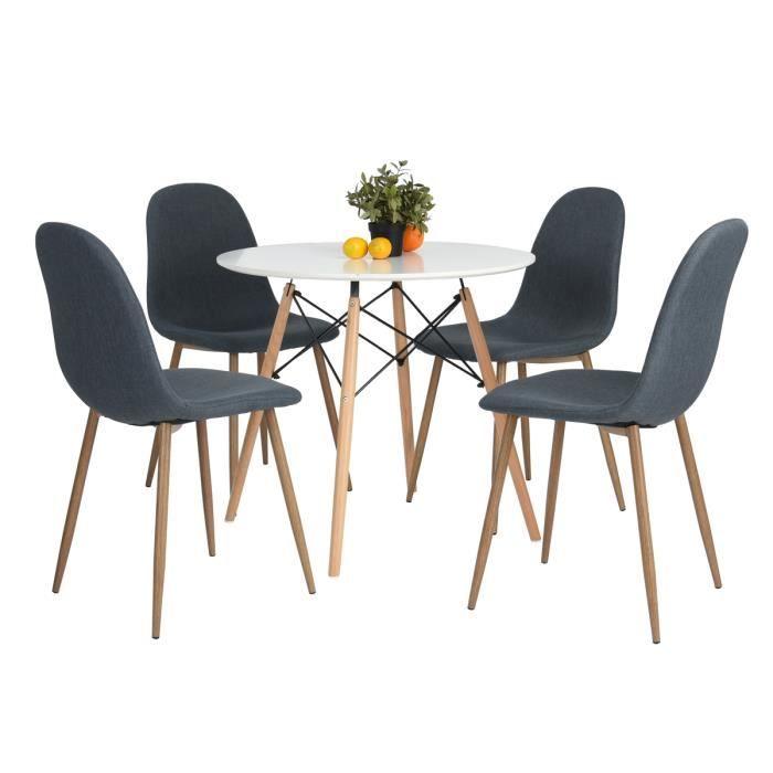 ce lot moderne et lgant compos dune table et de 4 chaises de haute qualit sera un excellent choix pour votre salle manger ou la cuisine - Table Et Chaise Moderne
