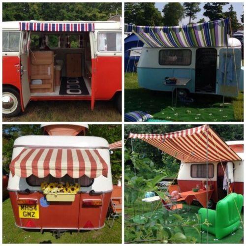 Vintage Retro Classic Caravan Sun Canopy Awning Cheltenham