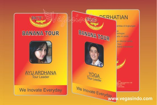Id Card Banana Tour And Travel  Plastic Card