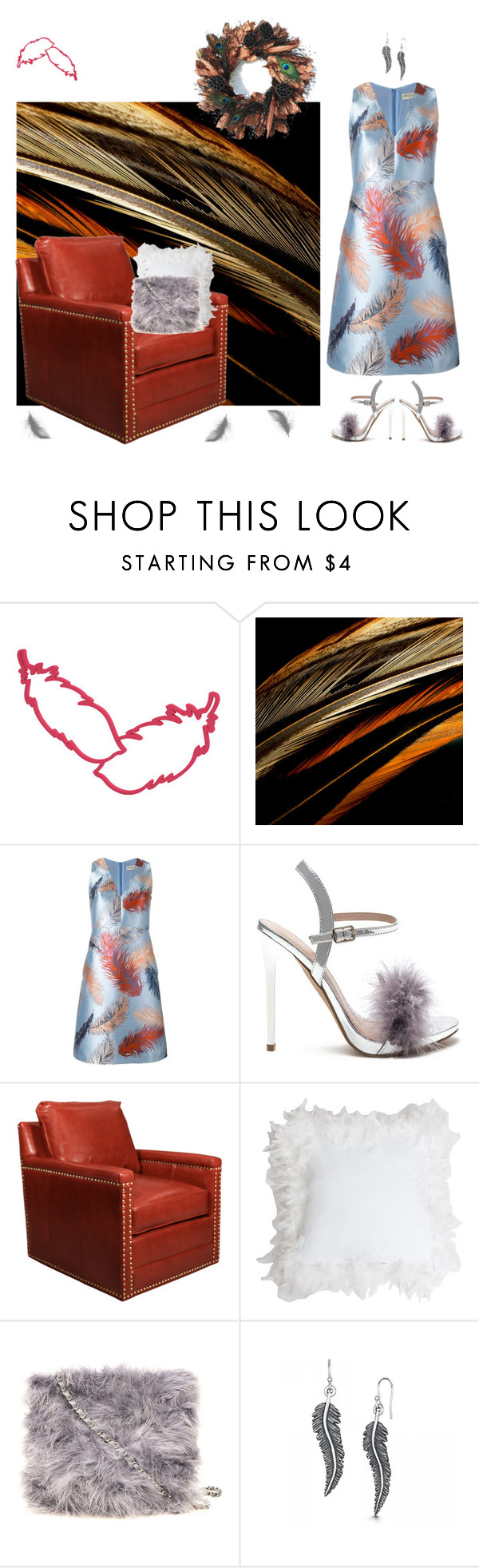 """""""Feather Your World!"""" by bevmardesigns ❤ liked on Polyvore featuring Emilio Pucci, Thro, Dorothy Perkins and Frontgate"""