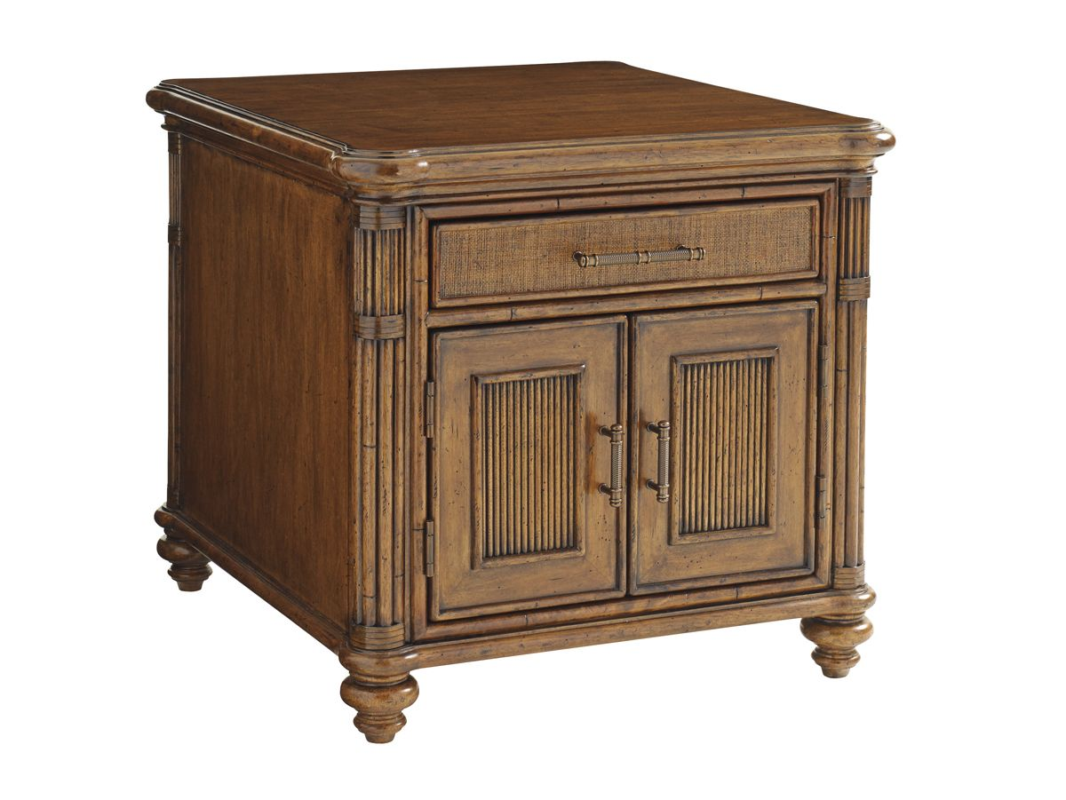 Bali Hai Mariner Storage End Table Lexington Home Brands Round