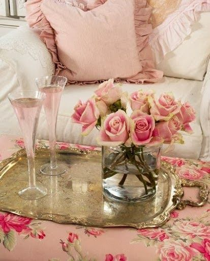 Vintage Shabby Pink