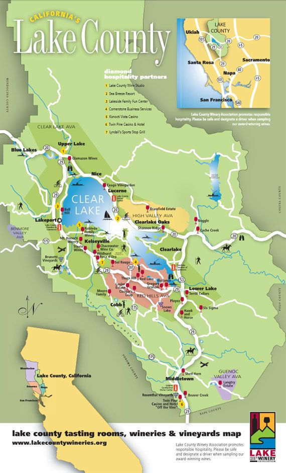 Lake County Ca Map Our Members | Lake County Winery Association | Lake County