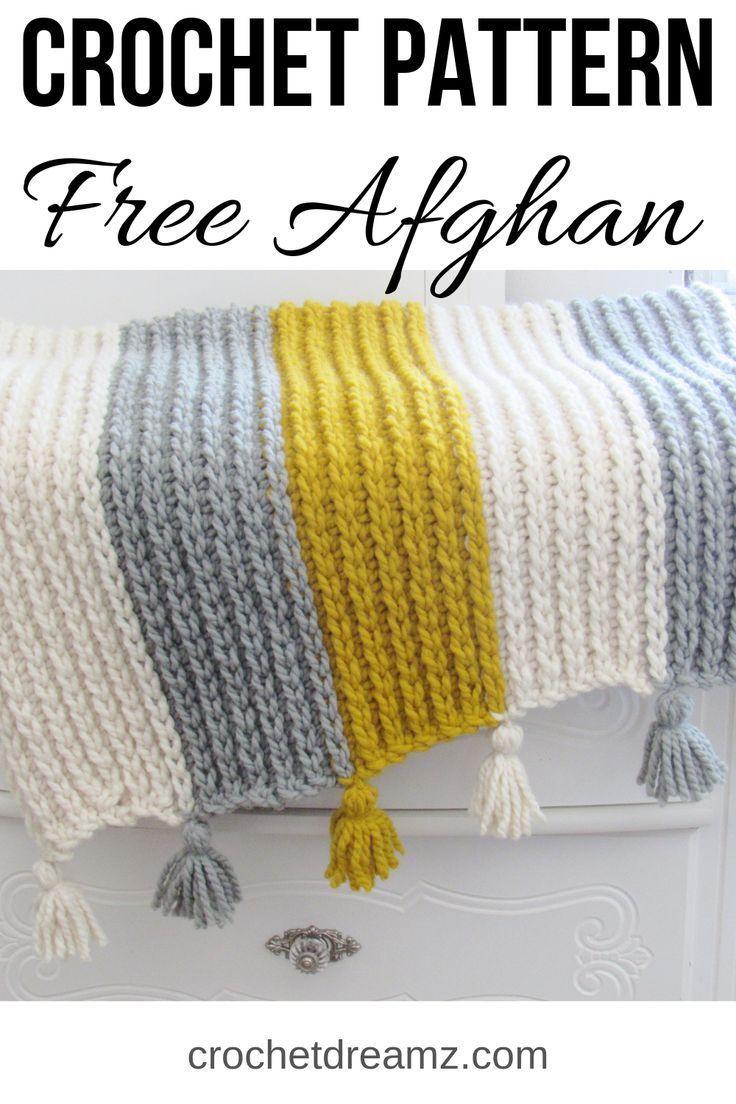 Photo of Free Knit-Look Chunky Afghan Crochet Pattern – Crochet Dreamz