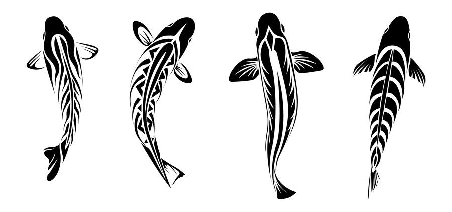 Tribal Koi Tattoos By Coyotehills Deviantart Com On Deviantart