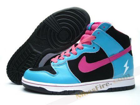 Nike Dunk High fuxia