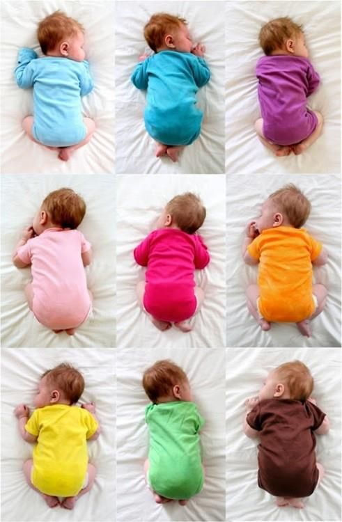 colorful babies so cute