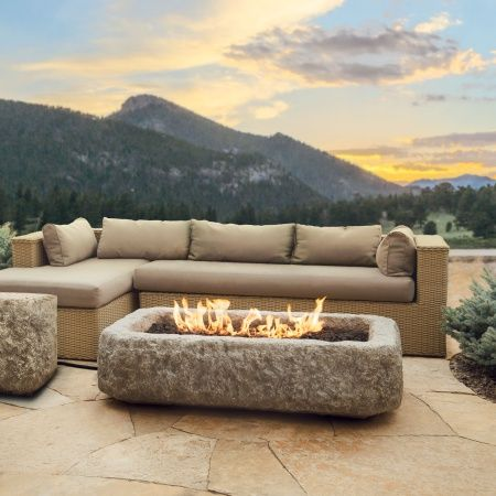 This Fire Pit Is Built From Lightweight Fiber Concrete And Heavy