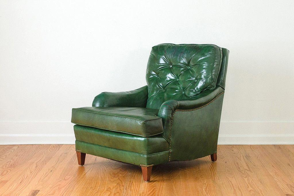 Stupendous Green Leather Club Chair Club Chairs Leather Club Chairs Machost Co Dining Chair Design Ideas Machostcouk