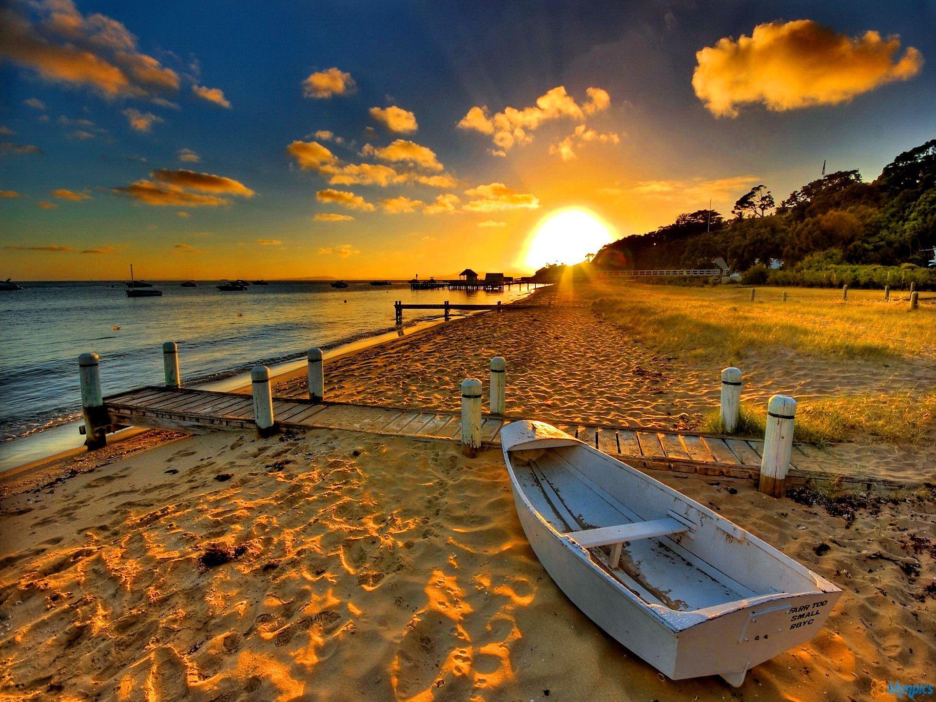 1920x1440 Beach Sunset Wallpaper High Definition 2352