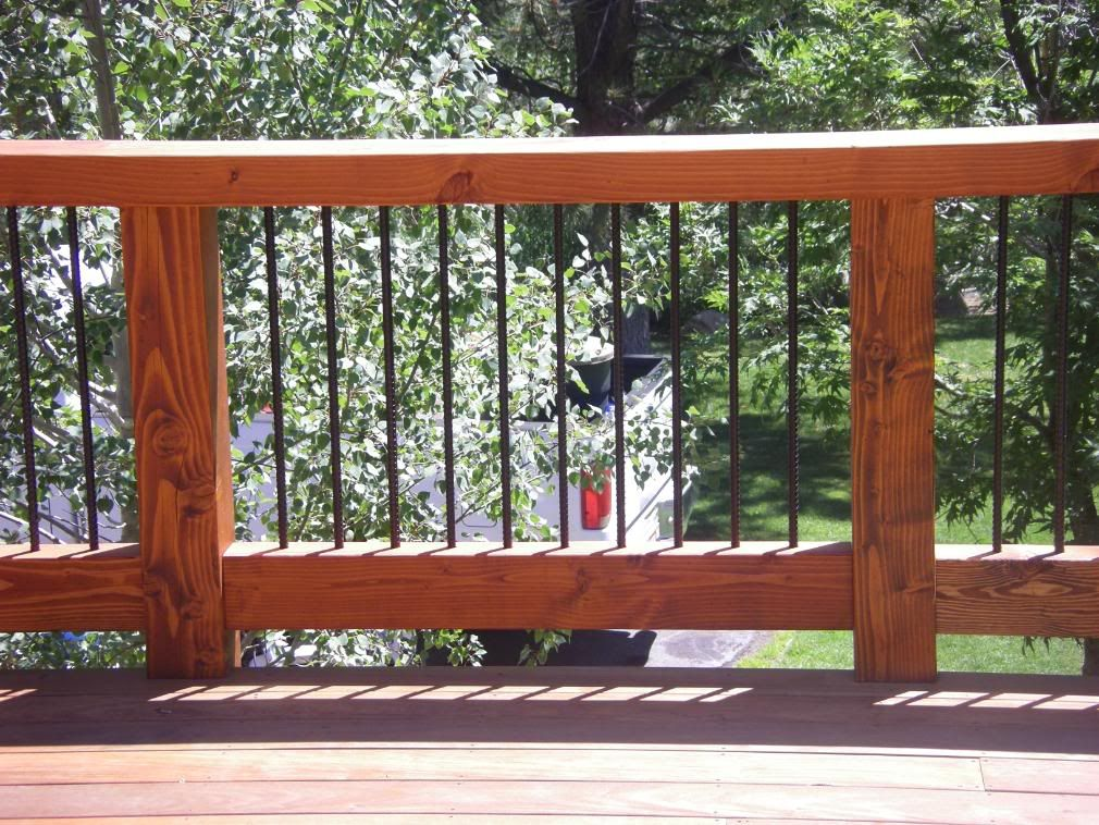 Definitely Considering Using Rebar As Part Of Our Deck
