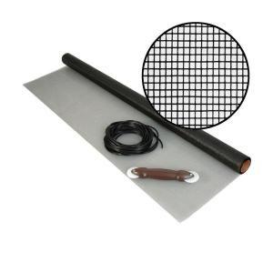 Phifer 48 In X 25 Ft Fiberglass Screen Kit With Spline And Roller 3022176 Fiberglass Screen Phifer Home Depot