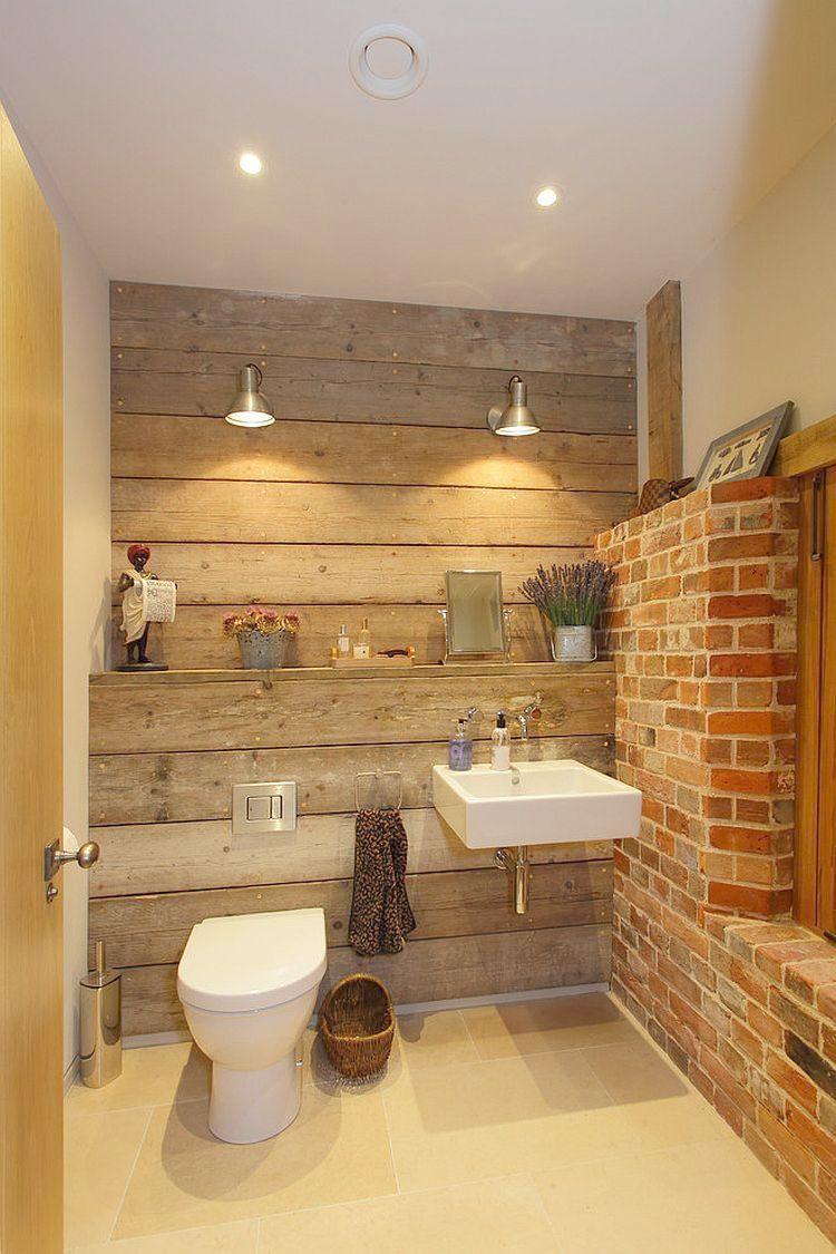 Country Bathroom Lighting Rustic Bath House Brick