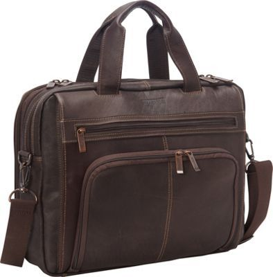 aa0961e1f Kenneth Cole Reaction Out Of The Bag - Colombian Leather Expandable  Computer Case Brown - via eBags.com!