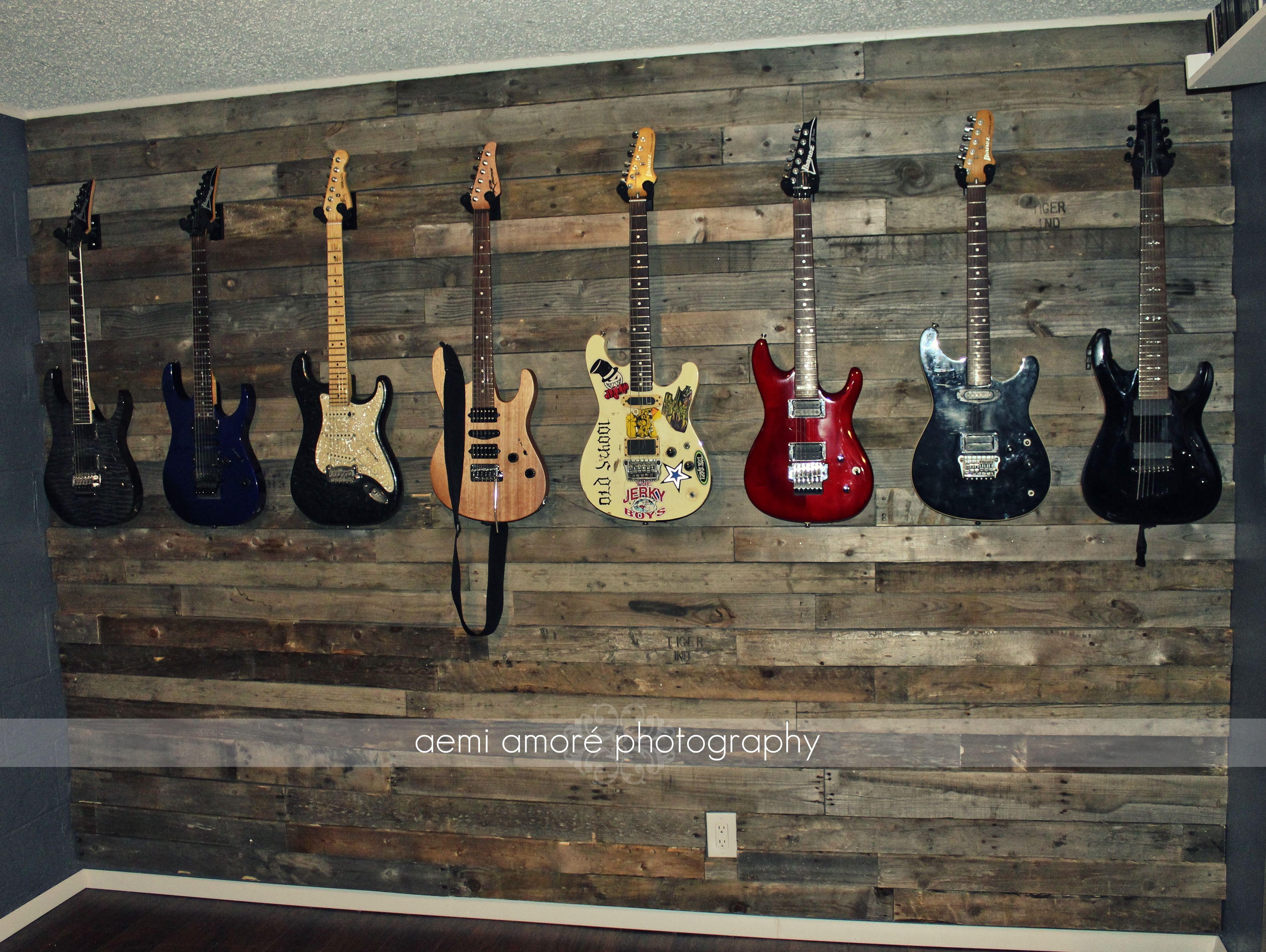 Pallet Wall Idea! Custom Man Cave / Jam Room / Music Room ...