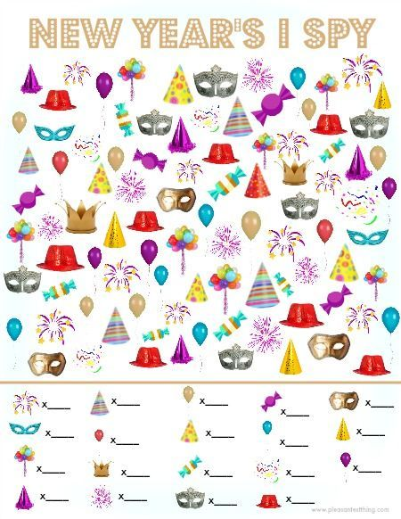 New Year I Spy Game - free printable search and find game ...