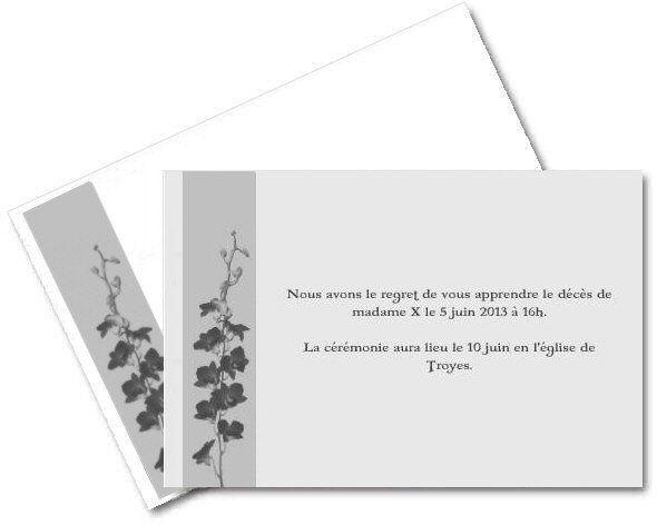 Faire Part De Deces Gratuit A Imprimer A Imprimer Com Carte De Remerciement Deces Carte De Deuil Faire Part De Deces