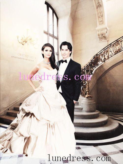 Wedding Dress Wedding Dresses Ian Somerhalder Photoshoot Vampire Diaries Nina Dobrev
