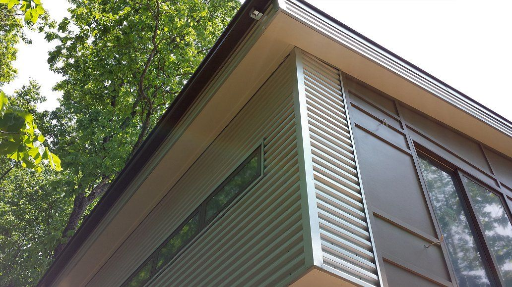 Best Corrugated Galvalume And Smooth Fiber Cement Siding Detail 400 x 300