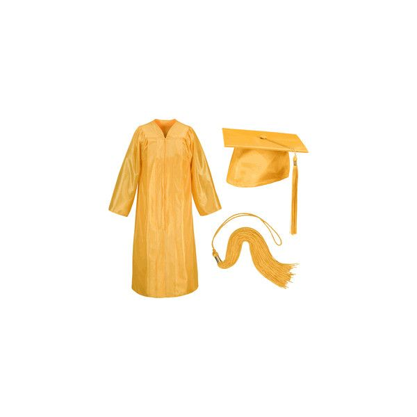 Bright Gold Graduation Cap And Gown 35 Liked On Polyvore