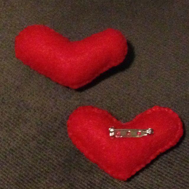 Valentine's Day felt pins