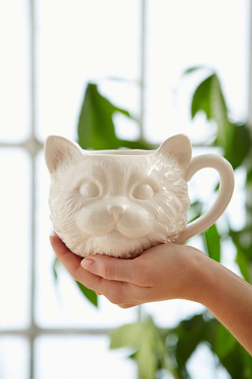 Plum & Bow Cat Face Mug | Gato, Cerámica y Vasos