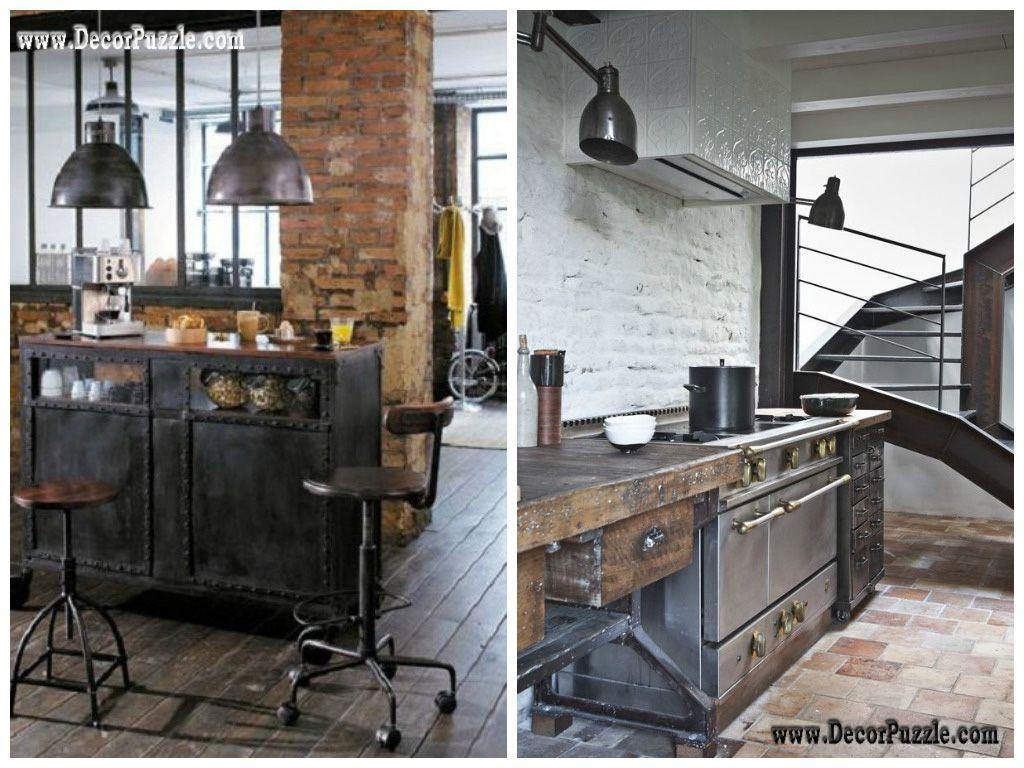 industrial kitchen style industrial chic decor furniture
