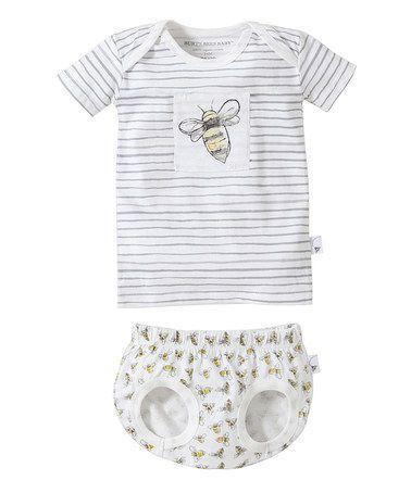 da774c67e Love this Cloud Bee Organic Tee   Diaper Cover - Infant by Burt s ...