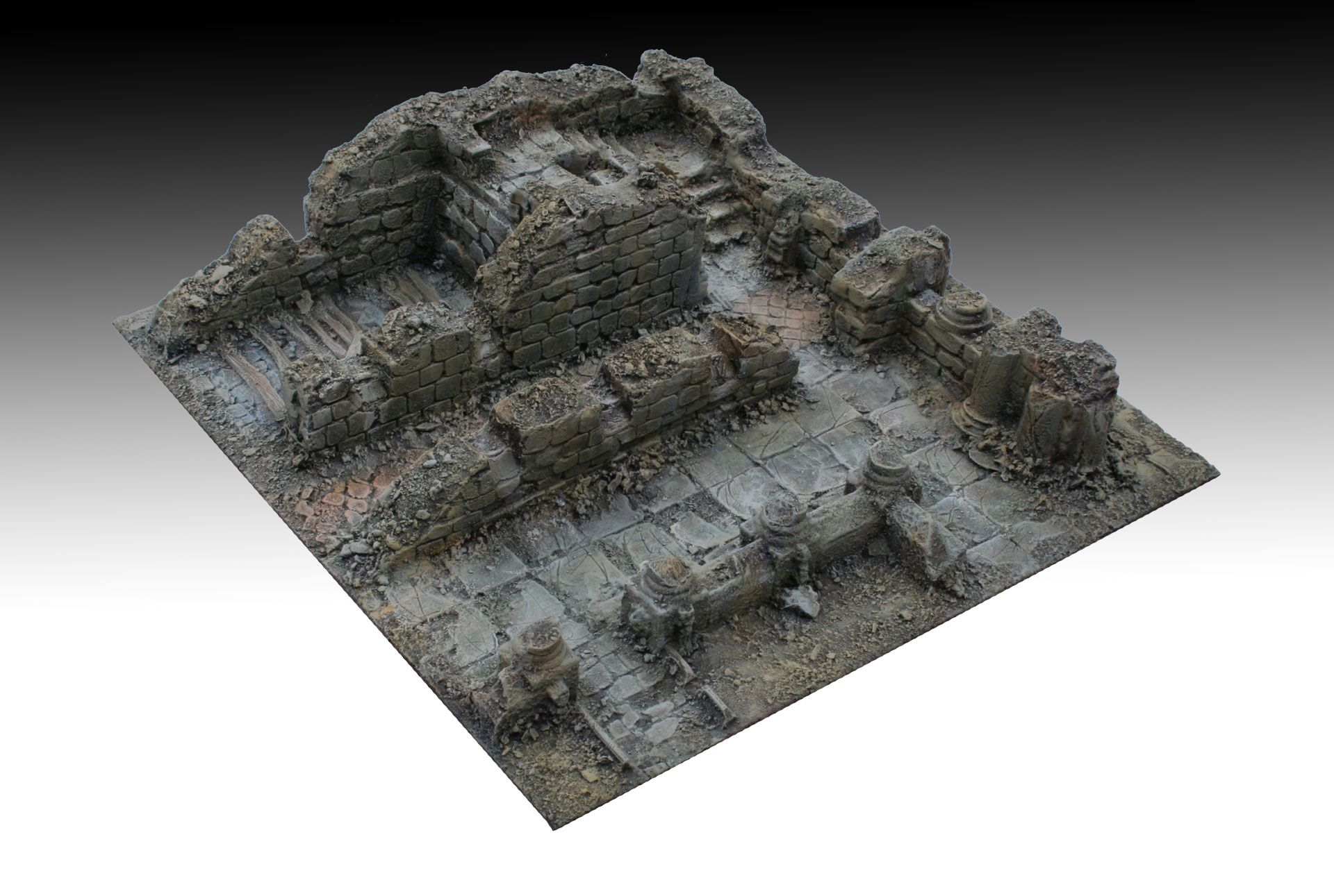 project for kickstarter platform: dedicated to the creation of bases 30x30 cm. for 3D tabletops for wargames and skirmish in 28-35 mm. - Master - 65  http://manorhouseworkshop.com/2015/12/04/update-8-3d-bases-modular-terrain-skirmish-wargame/