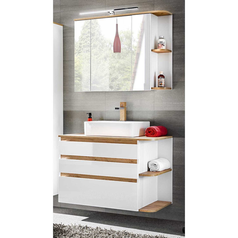 Badmöbel Waschplatz Set mit KeramikWaschtisch CAMPOS56