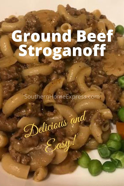 Ground Beef Stroganoff Recipe Recipe In 2020 Ground Beef Stroganoff Beef Stroganoff Stroganoff Recipe