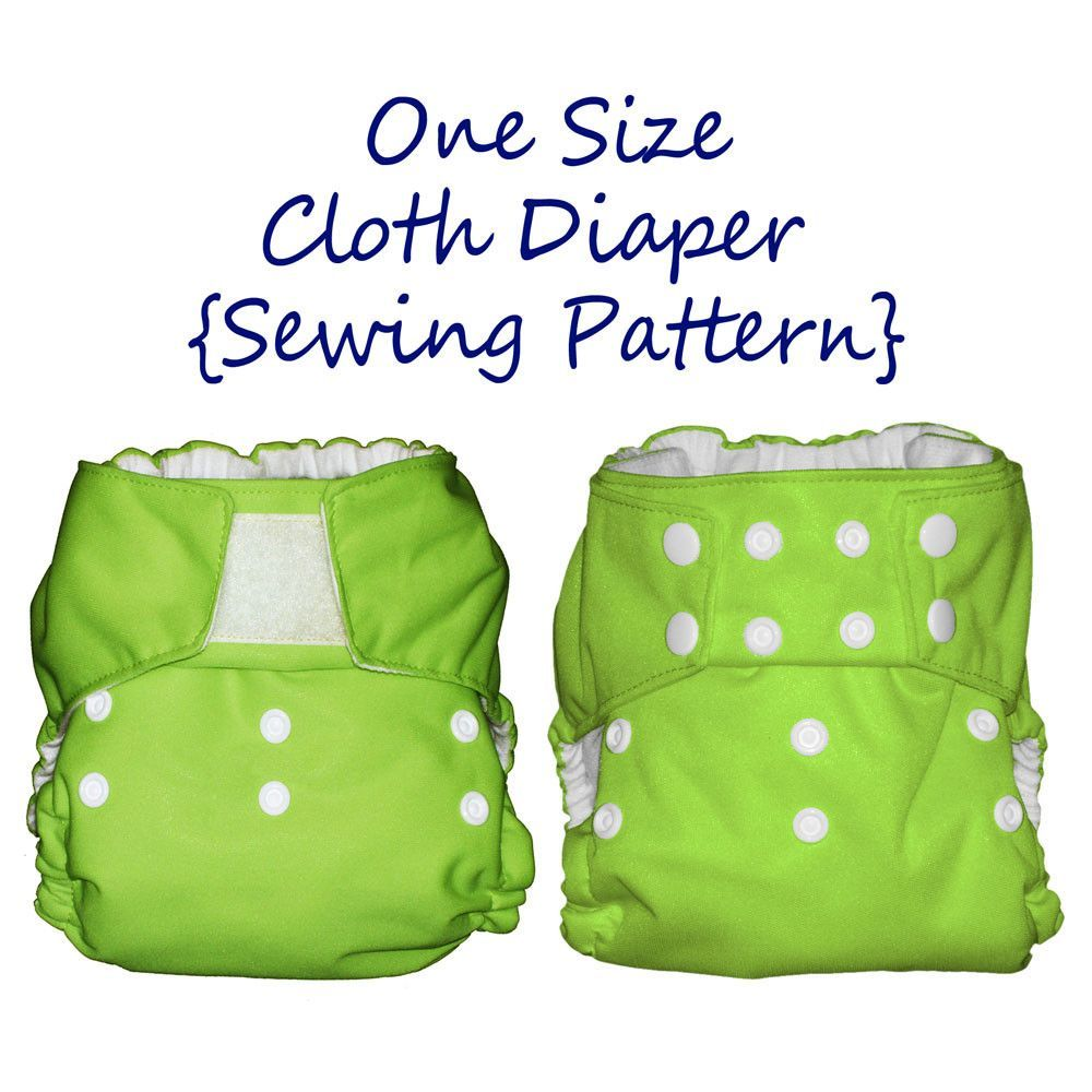Diaper sewing pattern one size fits all cloth diaper