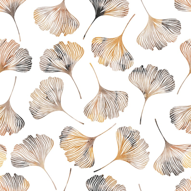 High Quality Peel And Stick Removable Self Adhesive Wallpaper Modern Gingko Leaves Pattern Choose From 4 Color Ways Gingko Leaves Wallpaper Peel And Stick Wallpaper