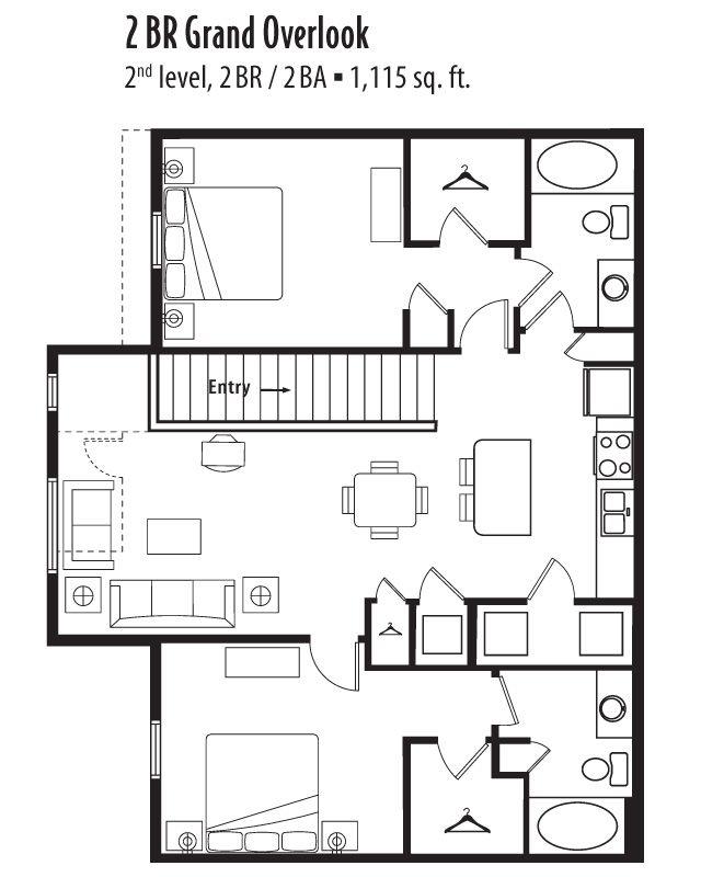 2 bedroom, 2 bath 1115 sf apartment at Springs at Jordan ...