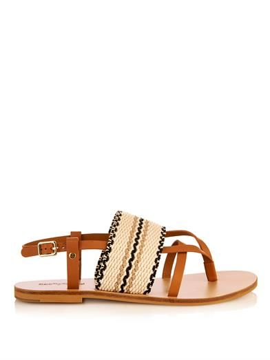f52ef71204 Kenna leather and woven-cotton sandals   See by Chloé   MATCHE ...