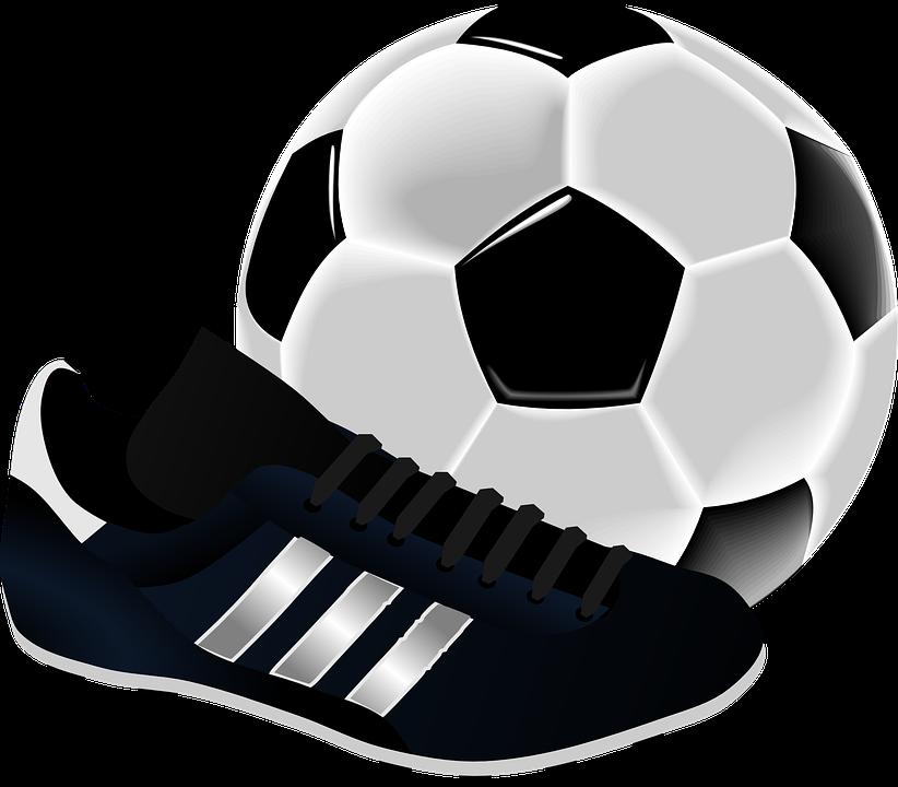 bota de futbol con balon