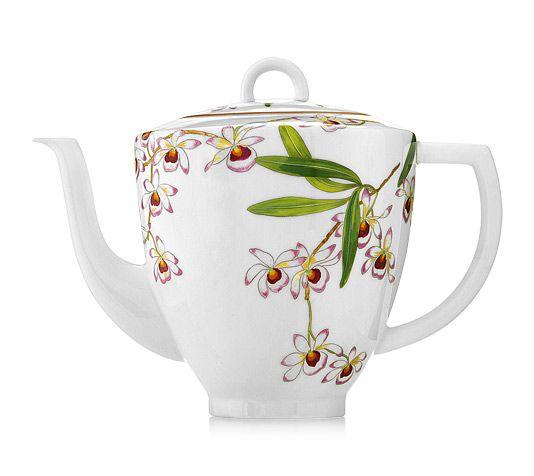 Hermès Jardin des Orchidées  Coffee / tea pot, 46.66 fl.oz.