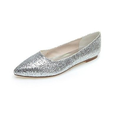 Womens Spring Summer Fall Winter Glitter Wedding Casual Party  Evening Flat  Heel Sequin Black Silver Gray