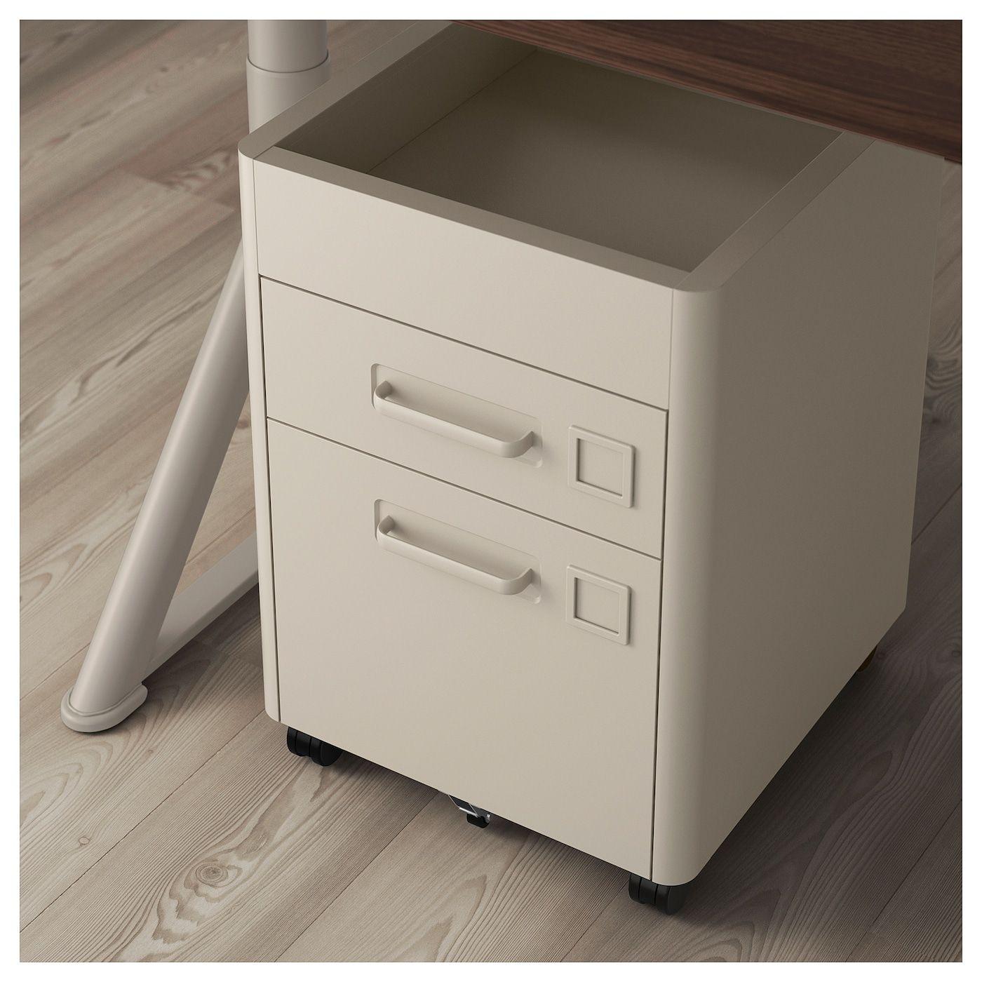 IDÅSEN Drawer unit with smart lock beige 16 1/2x24