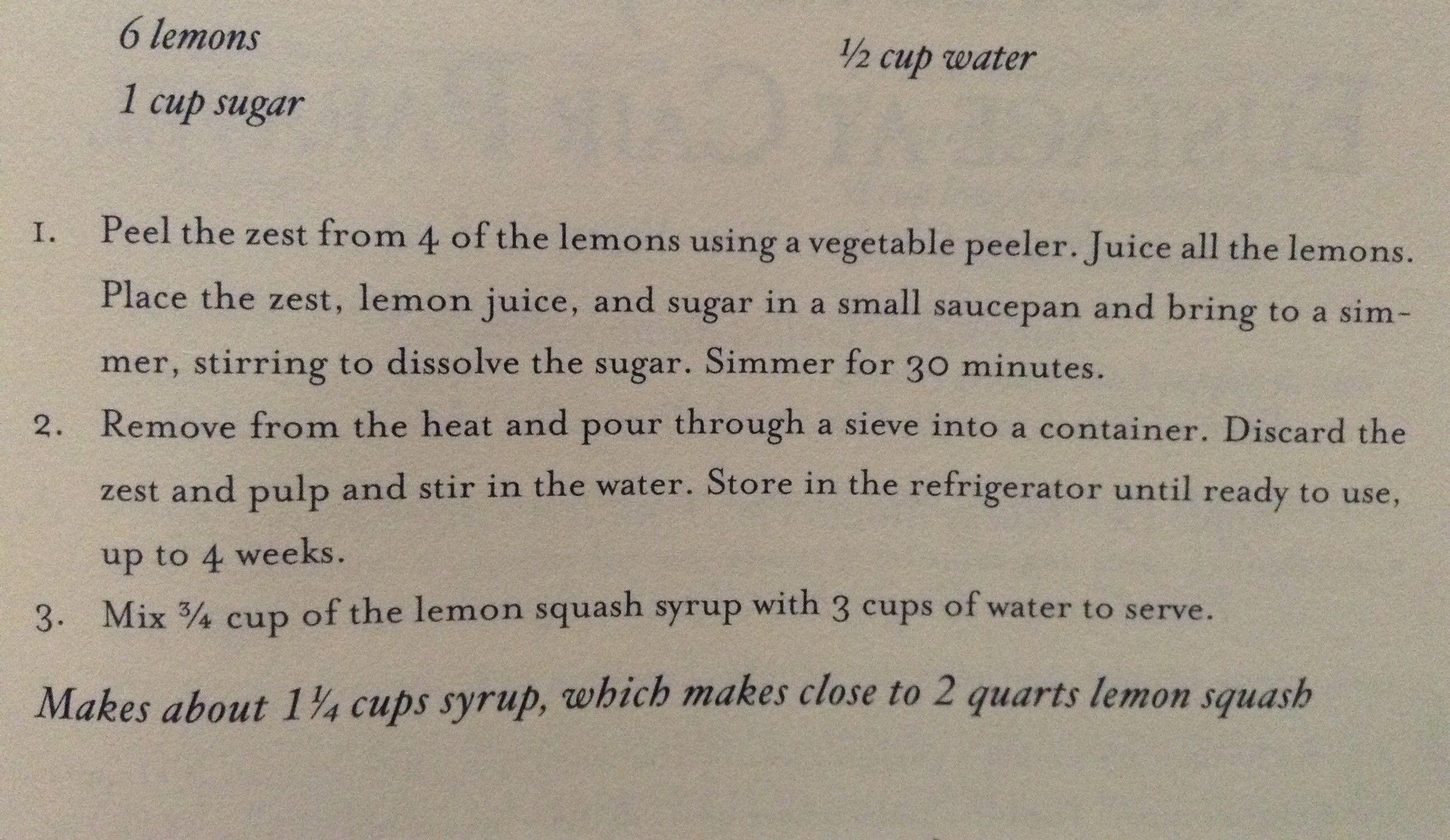 Lemon Squash-Unofficial Narnia Cookbook
