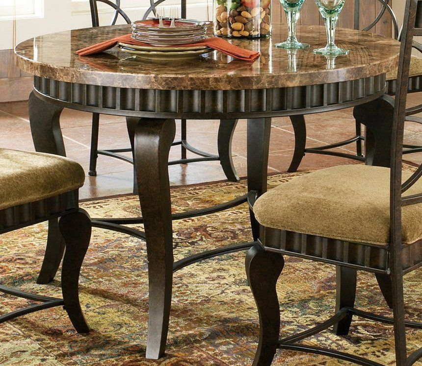 Round Marble Top Dining Table Upiebcqv  Stuff To Buy  Pinterest Custom Hamlyn Dining Room Set Inspiration Design
