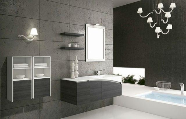Meubles salle de bains modernes en 105 photos magnifiques! - Salle De Bain Moderne Grise