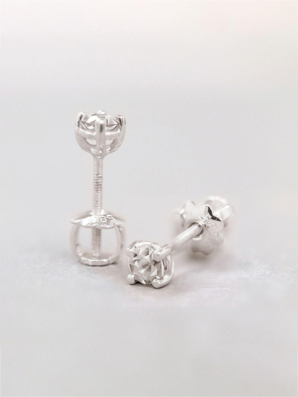 Baby Girl Diamond Stud Earrings