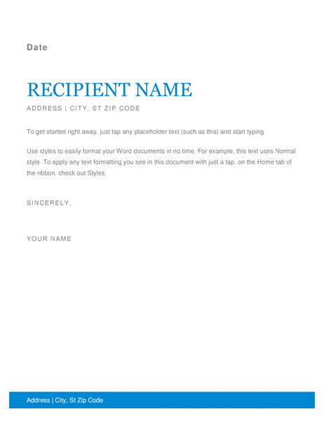 this accessible template with a contemporary letterhead design and