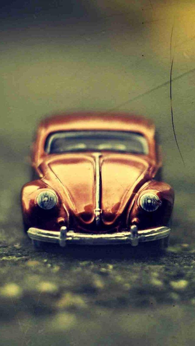 Vintage Volkswagen Beetle Toy Car Iphone Wallpaper