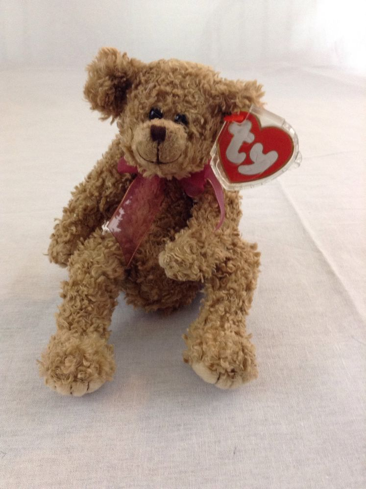 1993 Ty Beanie Baby Brown Bear Berkley Soft Stuffed Plush Toy With Tags  Ty 27a240048c4